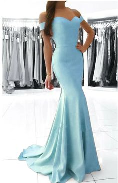 MACloth Off the Shoulder Mermaid Jersey Prom Gown Royal Blue Formal Evening Gown 10631 Baby Blue Prom Dresses, Blue Mermaid Prom Dress, Mermaid Bridesmaid Dresses, Mermaid Dresses, Satin Dresses, Party Dresses, Off Shoulder Evening Gown, Lace Dress With Sleeves, Evening Dresses