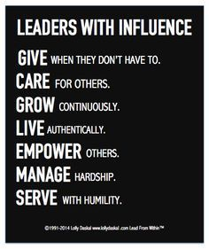 Leaders With Influencer via Lolly Daskal
