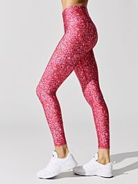 . Pink Leggings, Sports Leggings, Workout Attire, Pink Glitter, Workout Tops, Crop Tops, Stylish, Fitness, Outfits