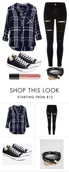 """Outfit #40"" by unicornicamitha on Polyvore featuring Rails, River Island, Converse, ASOS and Bare Escentuals"