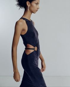 Backless, Horse Bits, Dion Lee, Australian Fashion, Formal Dresses, Tank Dress, Photo And Video, Navy, Videos