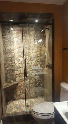 22 diy bathroom decor ideas on a budget you can't afford to miss out on 00084 . - Our Home - Bathroom Decor Small Bathroom Redo, Rustic Bathroom Shower, Aqua Bathroom, Rustic Bathroom Designs, Rustic Bathrooms, Diy Bathroom Decor, Bathroom Interior Design, Bathroom Bin, Bathroom Sets