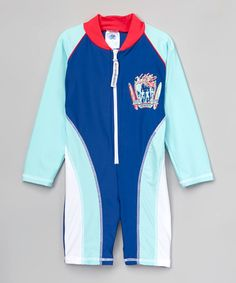 Navy & Red Long-Sleeve One-Piece Suit - Infant & Toddlers #zulily #zulilyfinds