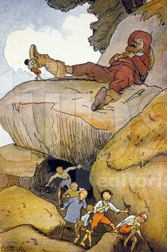 """""""Le Petit Poucet"""", Contes de Perrault, 1923, Pierre Noury"""