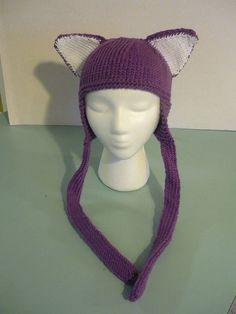 Purple hat with ears