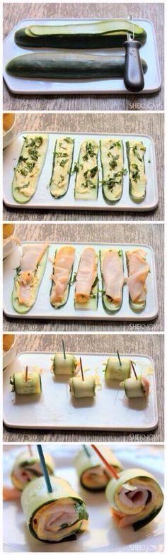 zucchini rolls - yummmmy