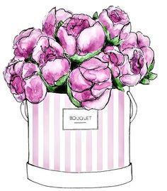 51 Ideas Flowers Illustration Girl Sweets For 2019 Images Wallpaper, Print Wallpaper, Pattern Wallpaper, Cute Wallpapers, Perfume Arte, Flower Crafts, Flower Art, Thema Paris, Parfum Chanel