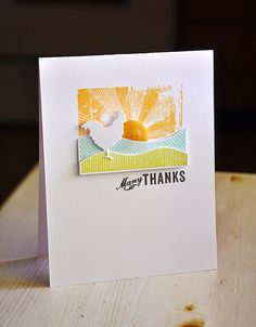 On The Farm Revisited: Many Thanks Card by Maile Belles for Papertrey Ink (July 2014)