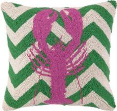 Lobster Pink Hook Pillow