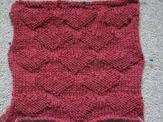 Knitting heart pattern