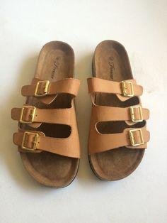 5121226eaf3 Vegan 3 buckle footbed sandals - vinted.com