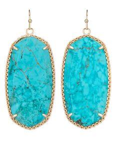 Deily Statement Earrings in Turquoise - Kendra Scott Jewelry