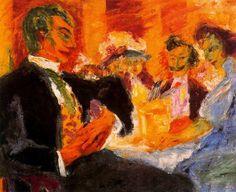 Emil Nolde, En el café, 1911. Óleo sobre lienzo, 73 x 89 cm, Museum Folkwang, Essen, Alemania