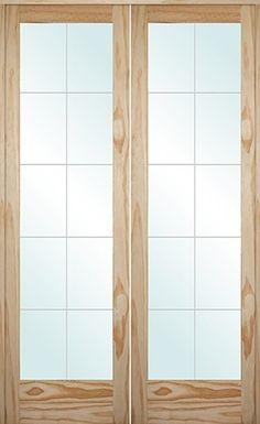 Milette 30x80 Interior 6 Lite French Door Clear Pine