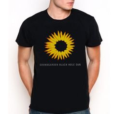 Soundgarden Black Hole Sun Custom Black T-Shirt Tee All Size XS-XXL