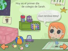 Mi primer dia de colegio is an interactive story for kids for iPhone and iPad that targets children's creativity and imagination while teaching them. Business For Kids, Busy Kids, Family Guy, Fictional Characters, Children's Literature, School, To Tell, First Day Of College, Product Development