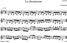 La_chicanneuse Dion, Sheet Music, Folk Music, Folk Dance, Music School, Music Sheets