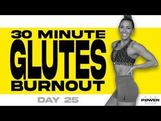 30 Minute Glutes Burnout Workout | POWER Program - Day 25 - YouTube Leg Butt Workout, Beginner Cardio Workout, Buttocks Workout, Workout For Beginners, Workout Videos, Gym Workouts, Work Out Routines Gym, Glutes, Friday