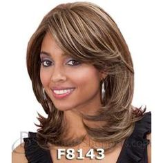 Bobbi Boss Premium Synthetic Hair Lace Front Wig - SAGE Bobbi Boss Lace Front Wig has been created for.Best Mid Length Hairstyles for African American WomenMost Wanted Mid Length Hairstyles for Women That Make You Pretty and Fascinating for Parties a Medium Hair Styles, Curly Hair Styles, Natural Hair Styles, Synthetic Lace Front Wigs, Synthetic Hair, Medium Shaggy Hairstyles, Mid Length Hair, Popular Haircuts, African Hairstyles