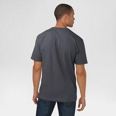 Dickies Men's Big & Tall Cotton Heavyweight Short Sleeve Pocket Henley Shirt- Charcoal (Grey) Xxxl Tall