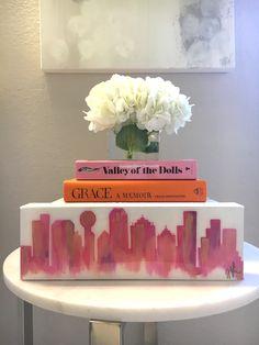 $125 Dallas Skyline 4x6 Art by Heather Elle