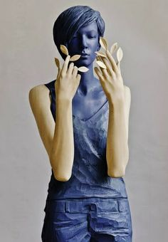 """Willy Verginer (Italy b. 1957) [Sculptor] """"Give Me Back the Green,"""" ca. 2013."""
