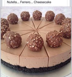 Nutella Ferreo cheesecake