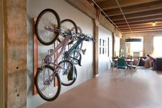 wall racks and ceiling storage ideas for bike