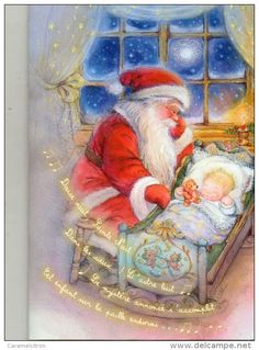 Santa meciendo a un niño - *Lisi Martin*