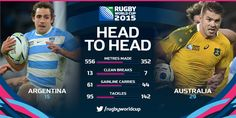 #ARG dominated some of the key stats at Twickenham, but #AUS's razor-sharp cutting edge saw them into the #RWCFinal