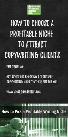 On AWAI's free training you'll get advice for choosing a profitable copywriting niche that's right for you. Free Training, Copywriting, Good Advice, Blog Tips, Writer, How To Get, This Or That Questions, Aurora, Texas