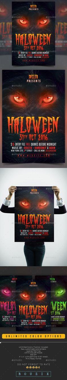 462 best halloween flyer template images on pinterest flyer