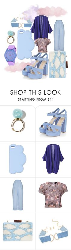 """""""B & P summer"""" by dudettelucy ❤ liked on Polyvore featuring STELLA McCARTNEY, Hebe Studio, Needle & Thread, Natasha and Movado"""