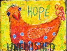 Hope Art Journal. Acrylics