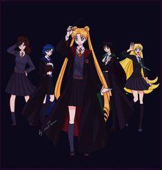 Sailor Moon x Harry Potter by lisGinka on DeviantArt