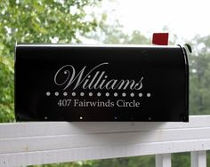 TWO SIDES  Stylish Mailbox Address Vinyl Decal by back40life, $15.00