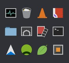 Flat Icons / Flat Design / Icons / Signs / Pictograms / Minimal Mac icons