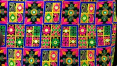 Multicolor Embroidered Unique Fabric Sold by Half by theDelhiStore