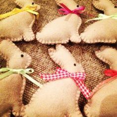 Easter felt bunny rabbits by @GlitteredPink