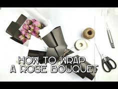 How To Make Flower Bouquet With Single Rose - YouTube