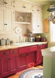 red kitchen cabinets - @Frances Martinez....what do you think about the colors?