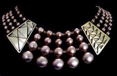 Monet Art Deco Bib necklace