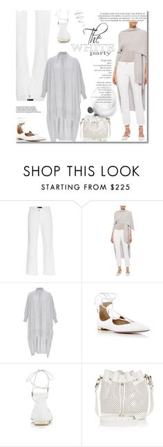 """White It Out"" by sherieme ❤ liked on Polyvore featuring moda, Rosetta Getty, Cynthia Rowley, whitejeans, whitedenim, modaoperandi, polyvorecontest y winterwhite"