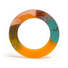 Multi-coloured Bangle (Turquoise) by Hannah Carlyle $90.00AUD. http://www.editionx.com.au/products/hannah-carlyle-multi-coloured-bangle-turquoise - @Edition X