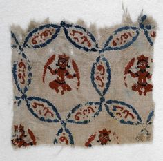 Textile fragment with Jupiter in Pisces or Mercury in Virgo, Fustat, 1170-1220.