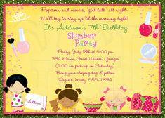 Slumber Party Invitation Pajama Party  -Digital File. $12.00, via Etsy.