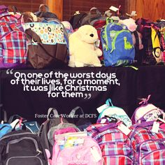 This is the power of a journey bag for foster children through The Forgotten Initiative.