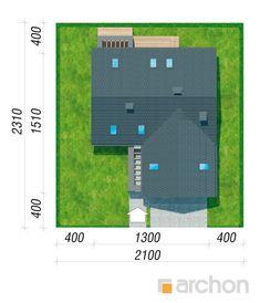 gotowy projekt Dom w jaskierkach sytuacja Modern Bungalow Exterior, Modern Family House, Construction, Locker Storage, Pergola, Projects To Try, Floor Plans, Building, Snake