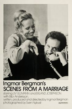 Scenes from a Marriage, Liv Ullmann, Erland Josephson, 1973 People Art Print - 41 x 61 cm Best Movie Posters, Cinema Posters, Movie Poster Art, Film Posters, Bergman Movies, Greek Words For Love, Scenes From A Marriage, Marriage Movies, Movie Posters