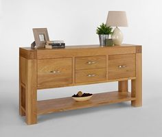 Clifton Solid Oak Furniture Console Hall Table With Storage Drawers & Low Shelf in Home, Furniture & DIY, Furniture, Tables | eBay